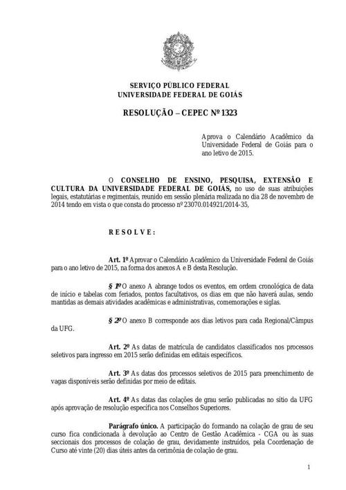 CALENDARIO GEO UFG