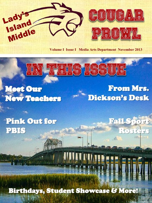 Cougar Prowl E-Newsletter Volume 1 Issue 1