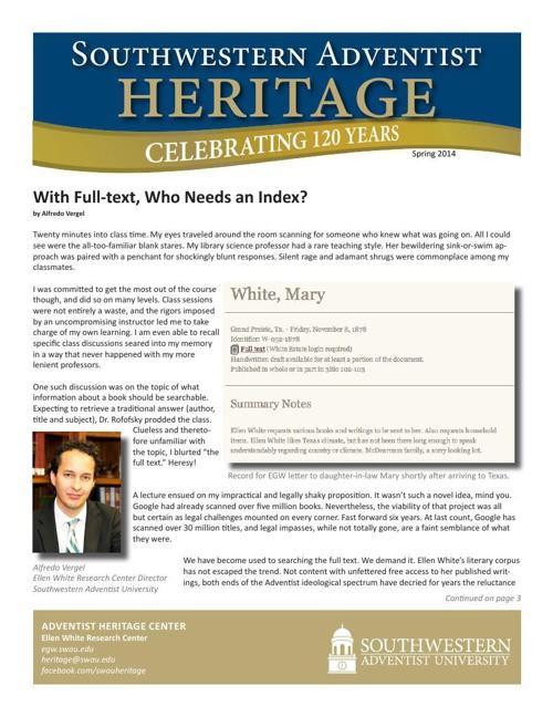 Southwestern Adventist Heritage