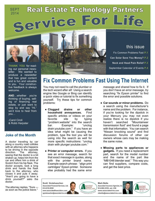 RETP Service For Life - September