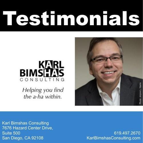 Karl Bimshas Consulting's Testimonials