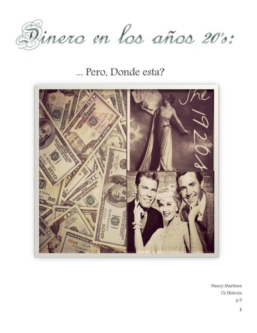 el dinero en los 20s