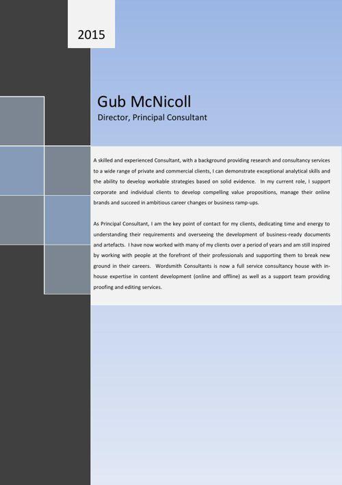 Wordsmith Consultants - Director's Resume