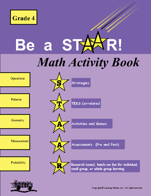 Sample 4th Grade STAAR Math Activity Book