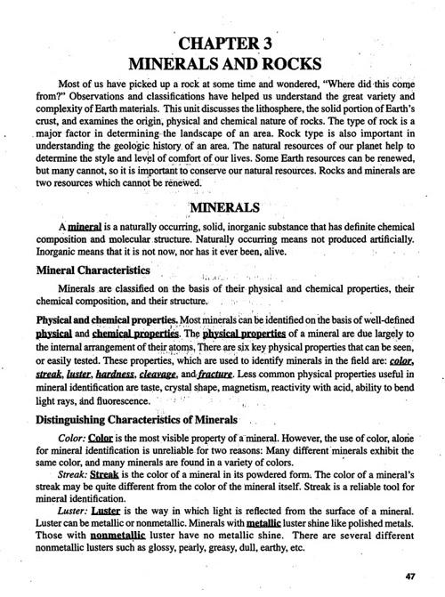 Regents: Minerals