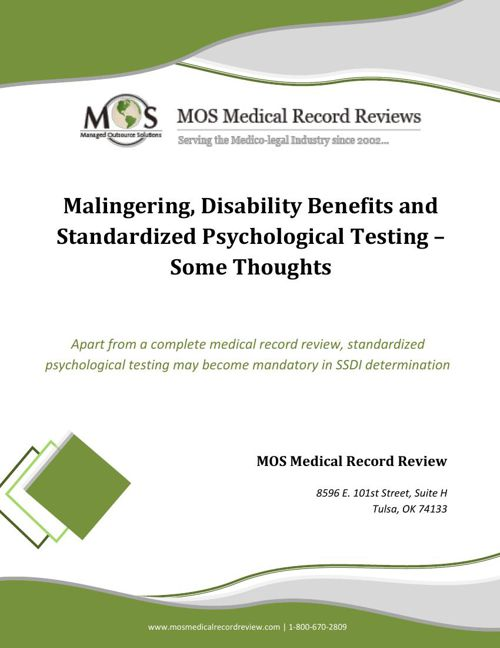 Standardized Psychological Testing for Disability Claimants