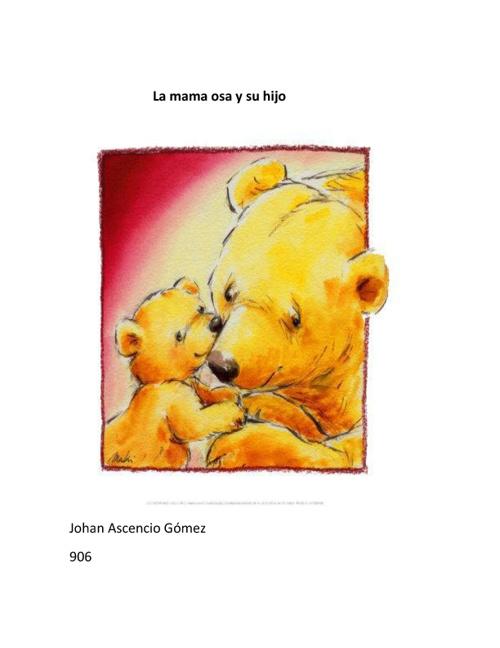 la mama osa y su hijo