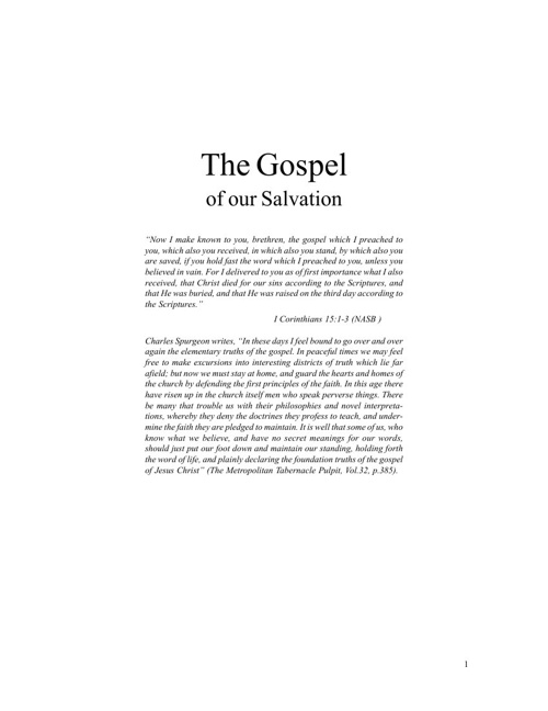 The Journey into the Gospel