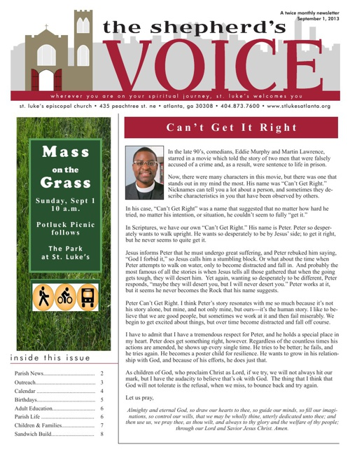 Shepherd's Voice September 1, 2013