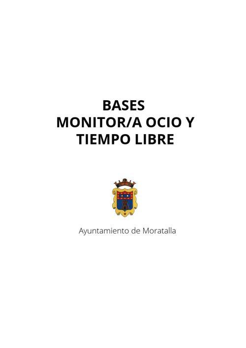 BASES DE SELECCIÓN MONITORES OCIO Y TIEMPO LIBRE