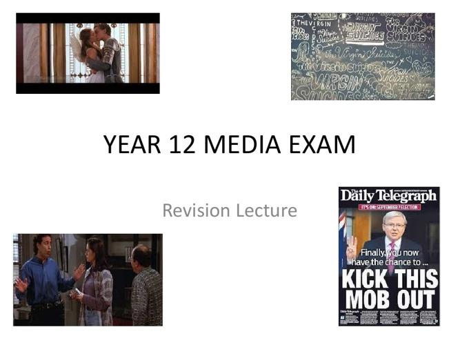 year 12 media exam revision