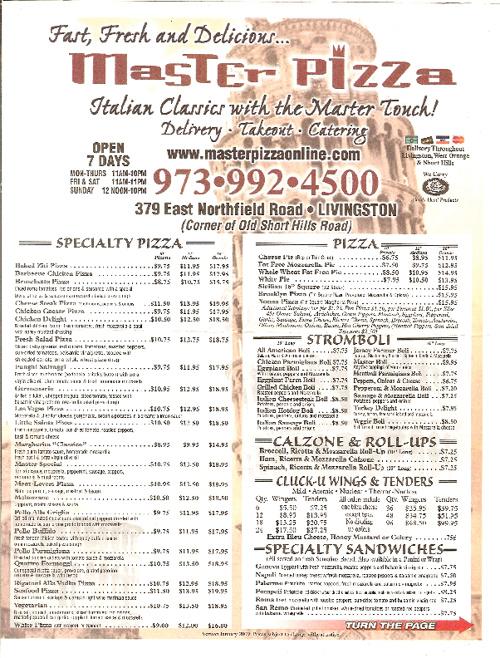 Livingston - Master Pizza