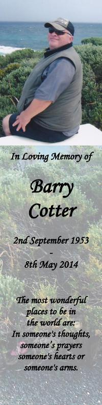 Bookmark for Barry Cotter