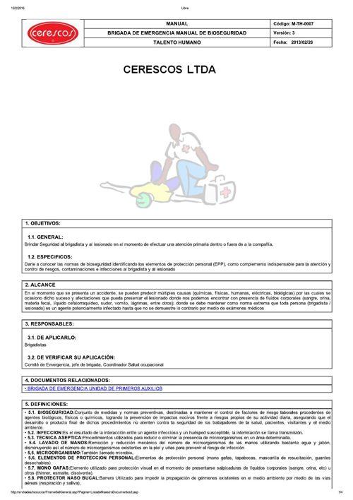 M-TH-0007  BRIGADA DE EMERGENCIA MANUAL DE BIOSEGURIDAD_V3