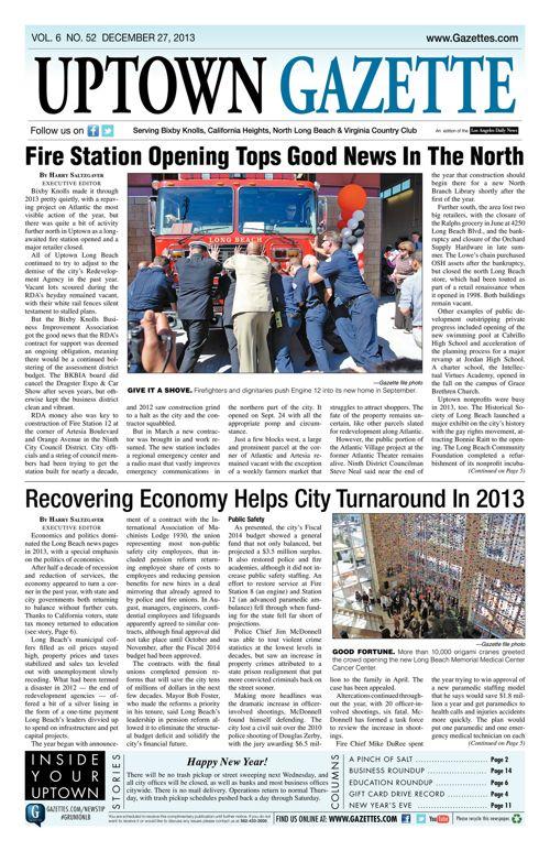 Uptown Gazette  |  December 27, 2013