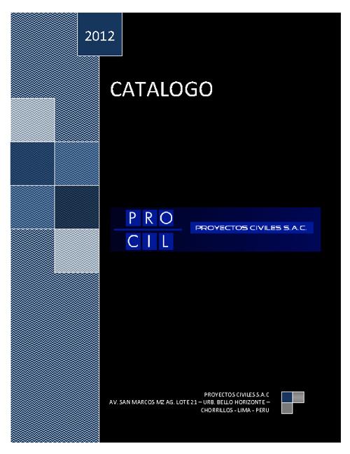 CATALOGO PROCIL 2012