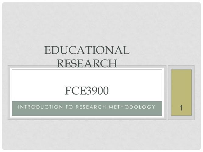 Copy of Lecture 1 FCE3900
