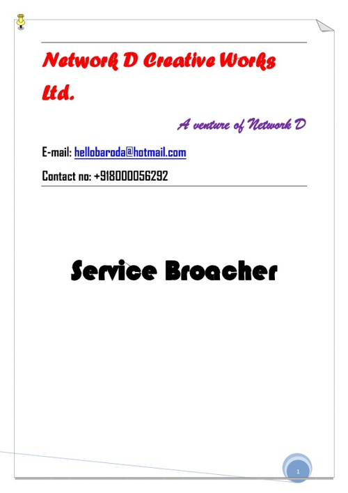 Network D Creative Works Ltd. Service Borcher
