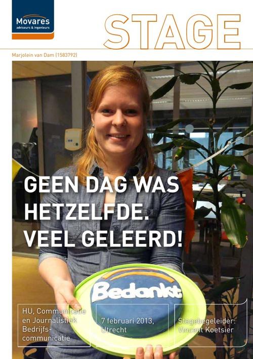 Stageverslag Marjolein van Dam