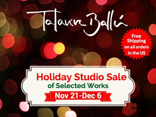 Talavera Ballon Studio Holiday sale 2014-  Vol 1