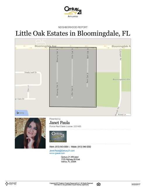 Neighborhood Report for Little Oak Estates
