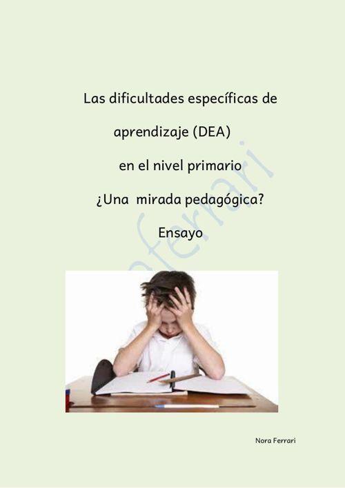 Las dificultades específicas de aprendizaje-Ensayo
