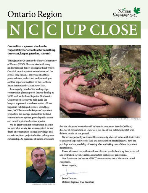 NCC Up Close - Ontario Region