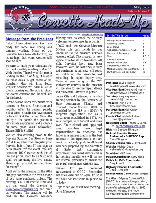 GOCC May 2014 Newsletter