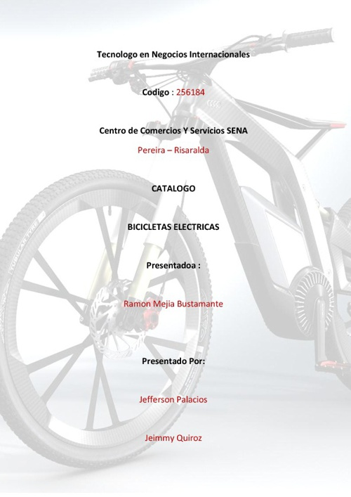 Bicicletas Electricas por Jefferson P. Y Jeimmy Q.