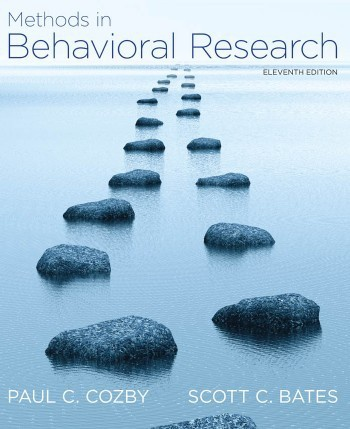 Cozby Methods in Behavioral Research 11th txtbk