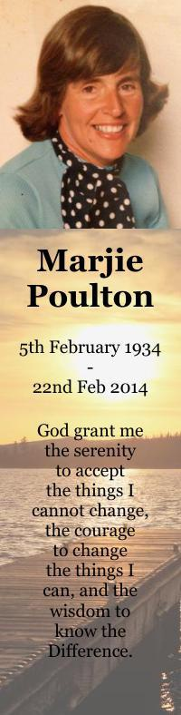 Bookmarks for Marj Poulton