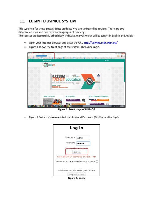 LOGIN TO USIMOE-lecturer