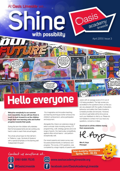 Oasis Academy Limeside Newsletter - Issue 3 - April 2013