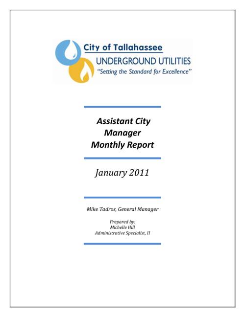 January 2011 ACM Report