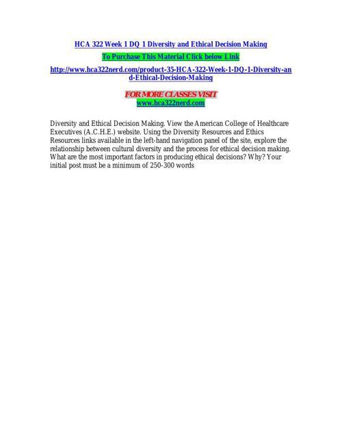HCA 322 NERD Real Education/hca322nerd.com