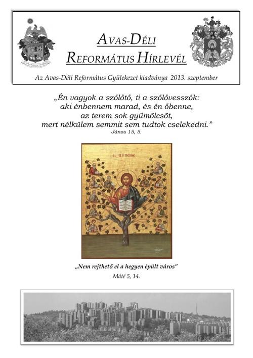 Gyülekezeti Hírlevél 2013. szeptember