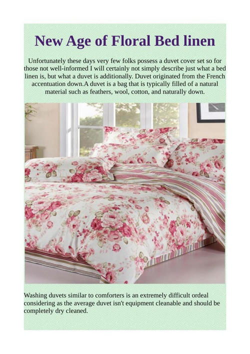 New Age of Floral Bed linen