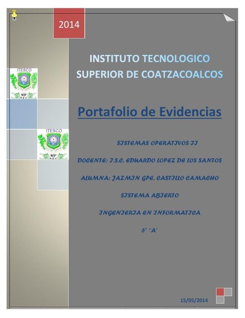 PORTAFOLIO DE EVIDENCIAS SO 2