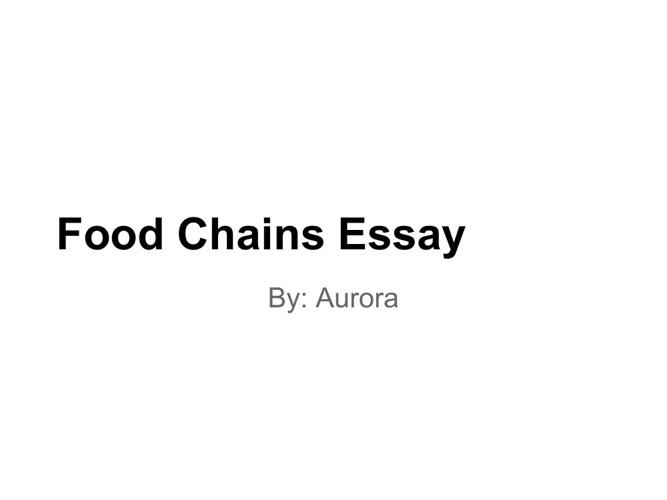 Food Chains Essay