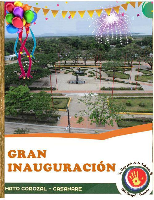 Invitacion Inauguración Parque Municipal