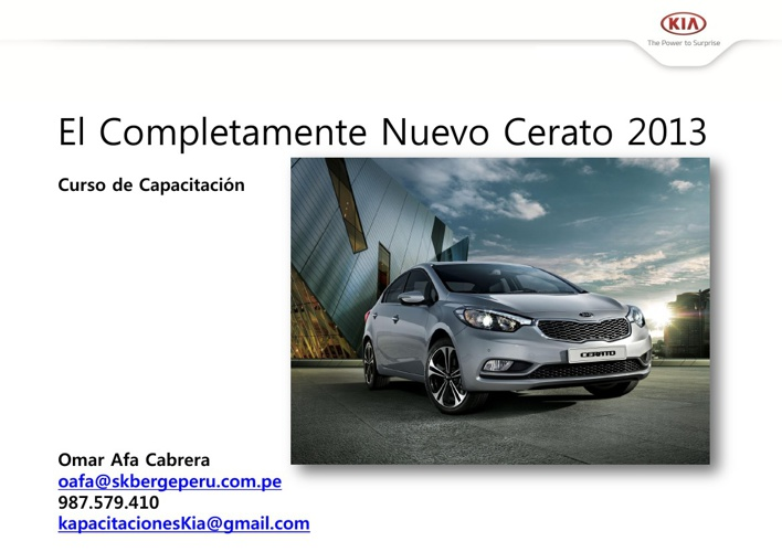 Manual de Producto KIA All New Cerato 2013