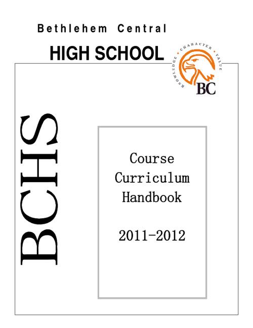 BCHS Curriculum Handbook