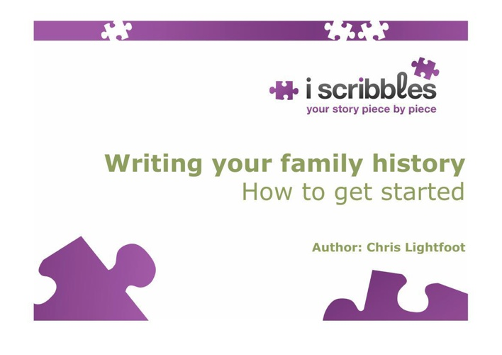 Writing your family history January 2014