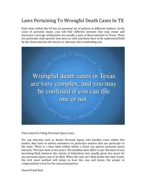 Who Can Sue In A Texas Wrongful Death Case