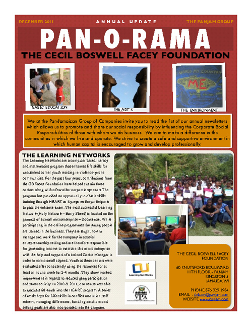 Pan-O-Rama Annual Report