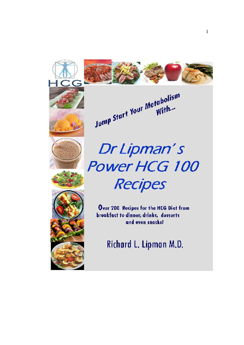 Dr Lipman's HCG Recipe Book