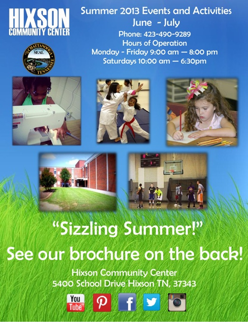 Summer Brochure 2013 Hixson Community Center