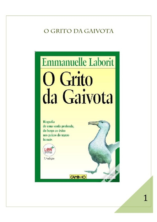 O Grito da Gaivota - Emmanuelle Laborit