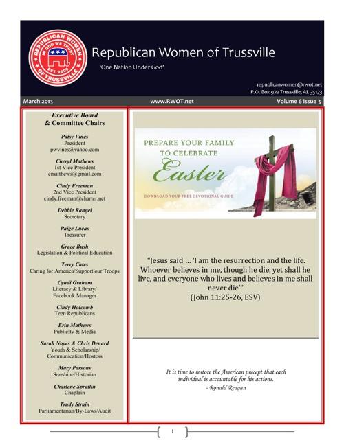 RWOT Newsletter 3-2013
