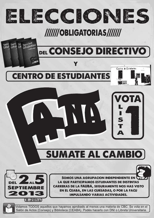 Plataforma Elecciones CONSEJO y CEABA 2013